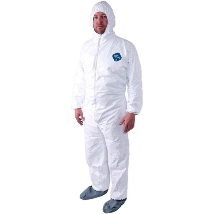 Malt ProMax II 1540 Coveralls with Hood, Boots, Elastic, and Zipper Front