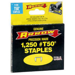 "Arrow T50 Staples 1/4"" - Pack of 10"