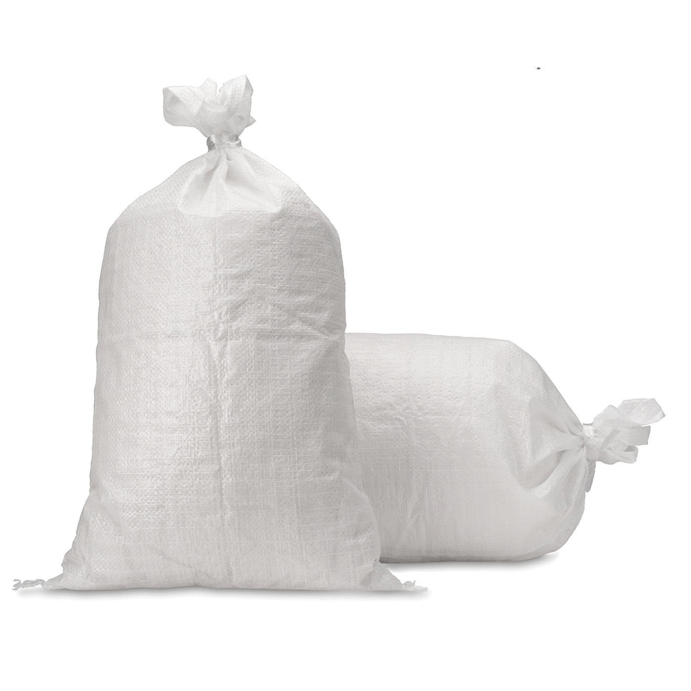 Woven Polypropylene Bags - Poly Sacks - White - Durable