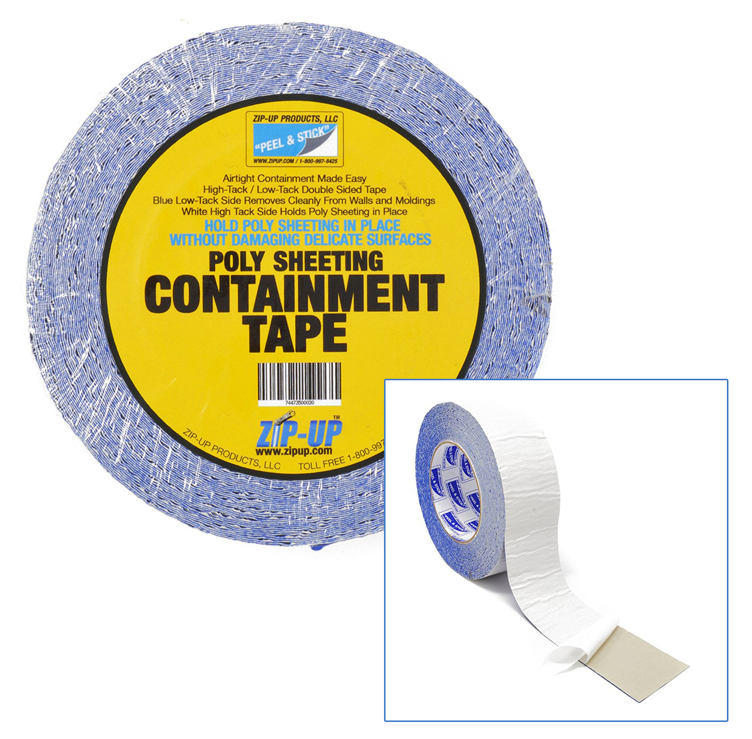 Zip Up Double Sided Poly Sheeting Containment Tape 2 X 60 Roll 26 99