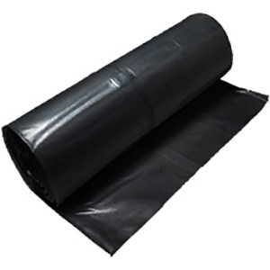 10 Mil Black Plastic Sheeting - Heavy Duty Visqueen Roll - 20 x 100