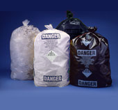 Asbestos Disposal Bags - 3.5 mil Black Printed 33x50