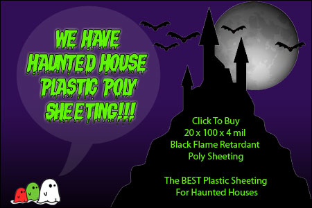 Halloween plastic sheeting sale