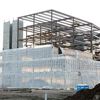 Commerical Construction - Plastic Poly Sheeting Example