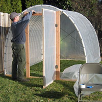 DIY Greenhouses - Plastic Poly Sheeting Example