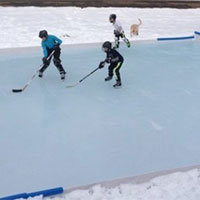 DIY Ice Skating Rinks - Plastic Poly Sheeting Example