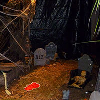 Halloween & Haunted House - Plastic Poly Sheeting Example