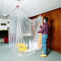 Home Improvement & Dust Containment Rooms - Plastic Poly Sheeting Example
