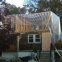 Residential New Construction - Plastic Poly Sheeting Example