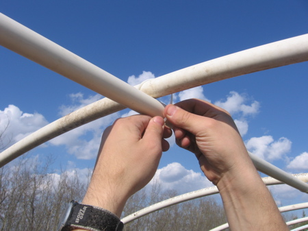 Greenhouse Plastic Sheeting PVC Pipe Spine