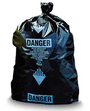 Black Disposable Burial Poly Bags (Printed)