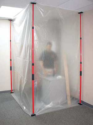 Poly Dust Barrier Containment Walls